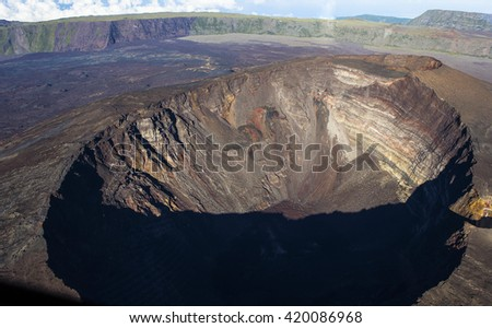 Piton de la Fournaise volcano, Reunion island, indian ocean, France