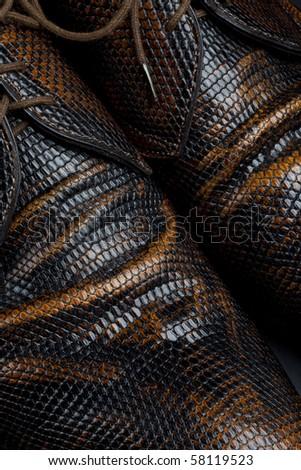 Piton leather - stock photo