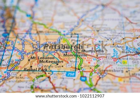 pittsburgh on usa map