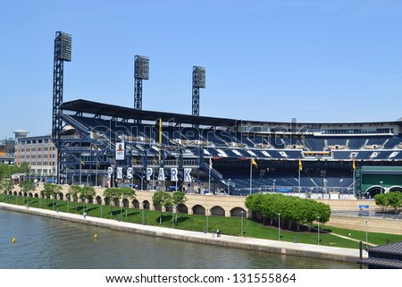 PITTSBURGH, PA - MAY 11: PNC Baseball Park on May 11, 2012 in Pittsburgh, Pennsylvania. PNC Park has been home to the Pittsburgh Pirates since 2001.