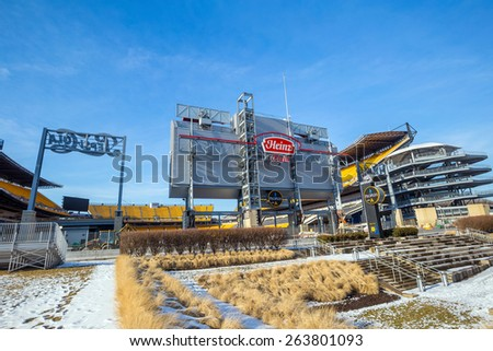 PITTSBURGH, USA - FEB 26: Heinz Field is the home of the Pittsburgh Steelers, an American Professional NFL team in Pittsburgh, Pennsylvania on February, 2015