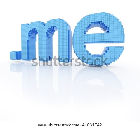 pixel domain symbol dot me isolated - stock photo