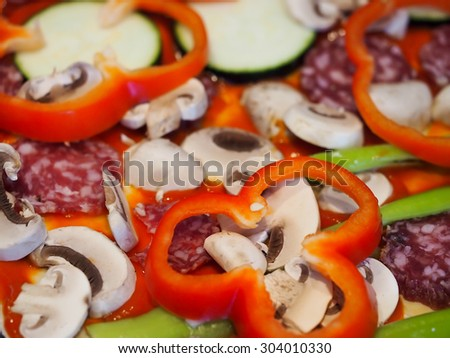 pizza background texture eating cooking  - stock photo