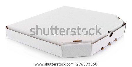Pizza box isolated on white