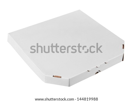 Pizza box, isolated on white background - stock photo