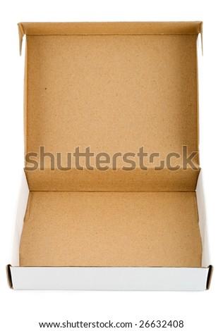 Pizza box paperboard blank empty - stock photo