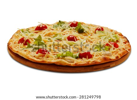 Pizza Cesar. On white background