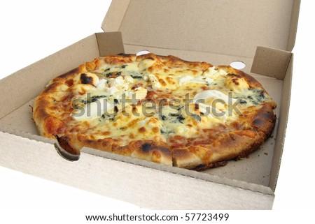 pizza cheese carton - stock photo