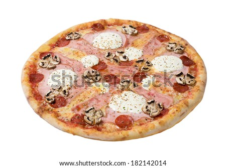 Pizza cheese. Isolated on a white background. Studio shot - stock photo