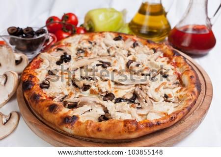 Pizza Chicken - stock photo