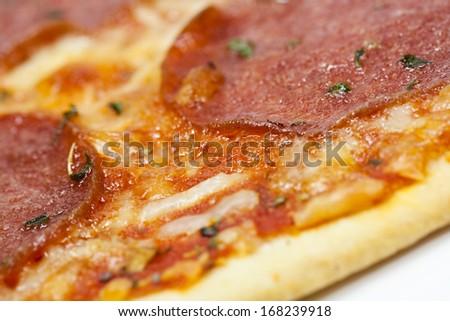 pizza close - stock photo
