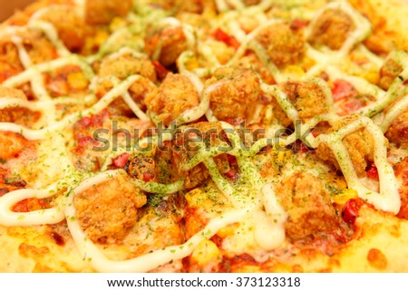 Pizza close up - stock photo