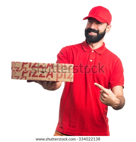Pizza delivery man  - stock photo
