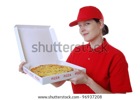 pizza delivery service - stock photo