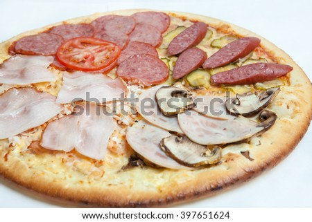 pizza, different kinds of pizzas to the menu of restaurant and pizzeria, a variety of pizza toppings