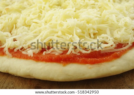 pizza dough and ingredient for baking