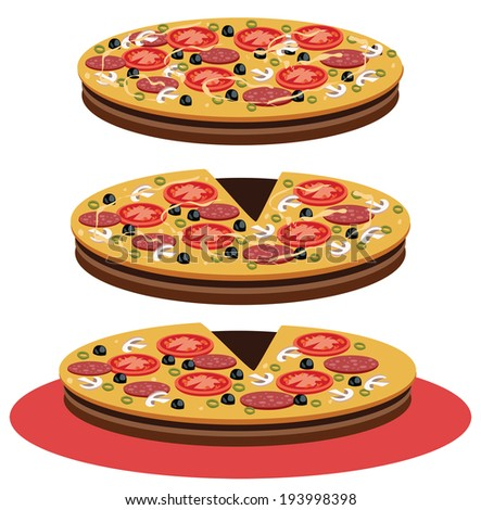 Pizza - Illustration - stock photo