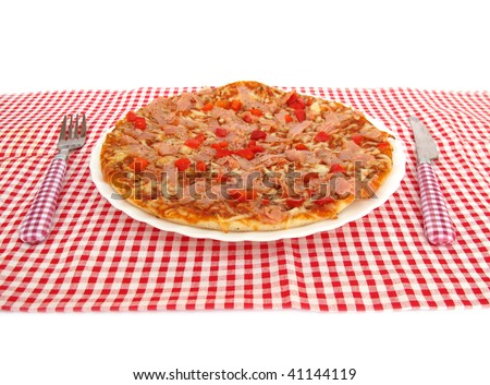 Pizza in restaurant