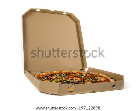 Pizza in the box - stock photo