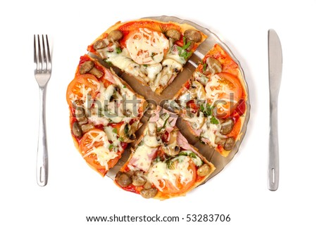Pizza isolated on white background