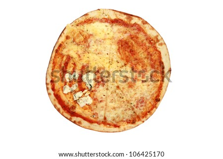 pizza on a white background including clipping path