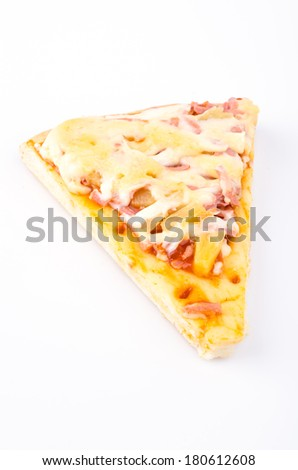 Pizza on isolated white background