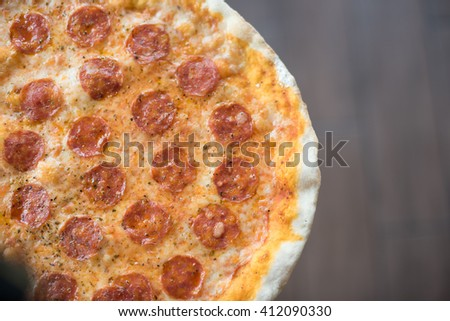 pizza on top view
