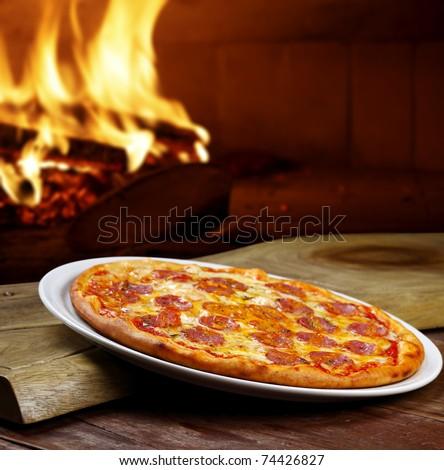 Pizza oven - stock photo