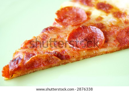 pizza pepperoni slice - stock photo