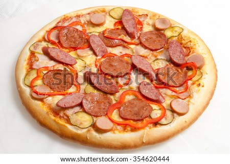 pizza, pizzas European and American cuisine, perfectly cooked and delicious kind of mastery of the chef, fast food - stock photo