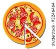 Pizza. Raster version - stock vector