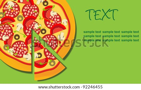 Pizza. Raster version - stock photo