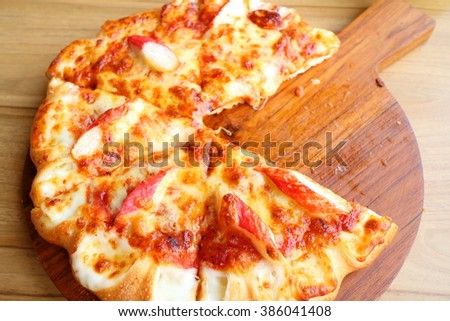 Pizza seafood and cheese