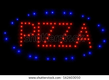 Pizza Sign - stock photo