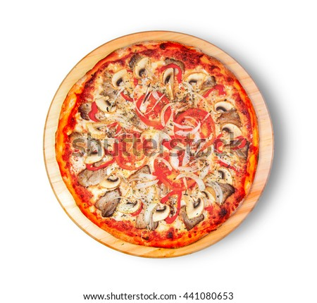 Pizza. This picture is perfect for you to design your restaurant menus.