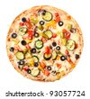 Pizza vegetarian - stock photo
