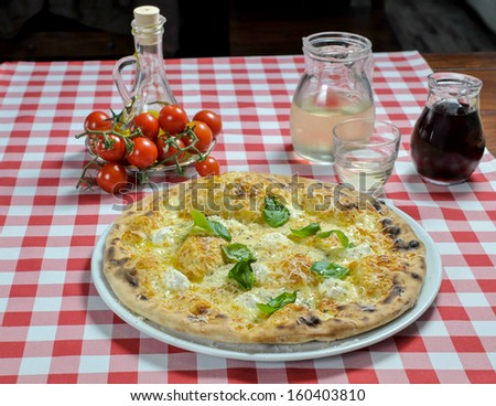pizza with four kinds of cheese