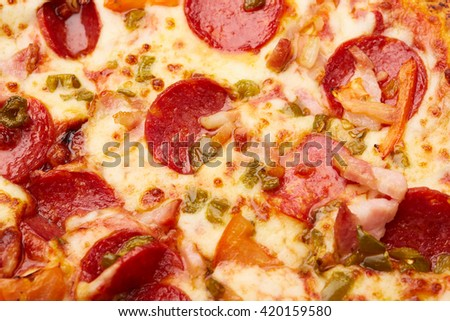 pizza with sausages
