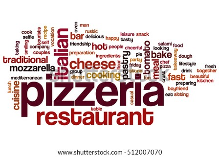 Pizzeria word cloud concept