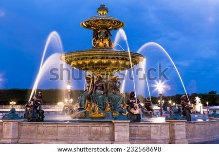 Place de la Concorde in Paris - stock photo