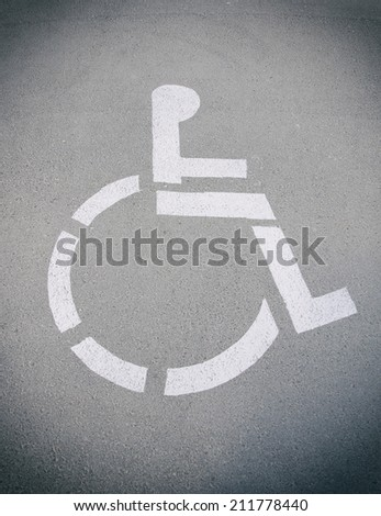 Place for disabled and invalid parking. - stock photo