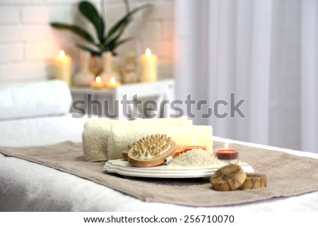 Place for relaxation in modern wellness center - stock photo