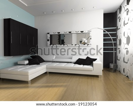 place for rest in apartment 3 d image