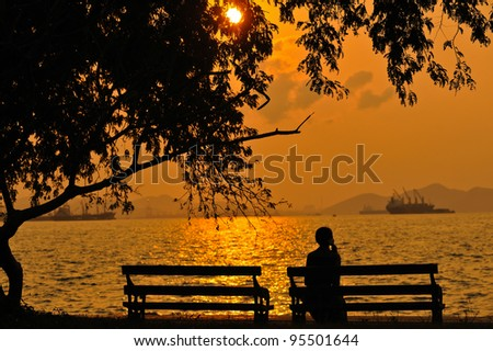 Place for rest see view and fishing at  Sickness island,Thailand - stock photo