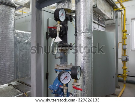 Place Large Industrial Boiler Room Parts Stock Photo (Royalty Free ...