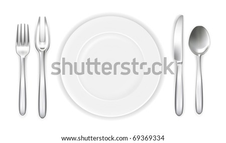 Place setting, Bitmap copy - stock photo
