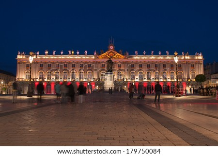 Place Stanislas Square in Nancy, France, UNESCO World Heritage Site