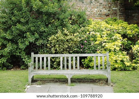 Place to rest, Empty bench in a city park.