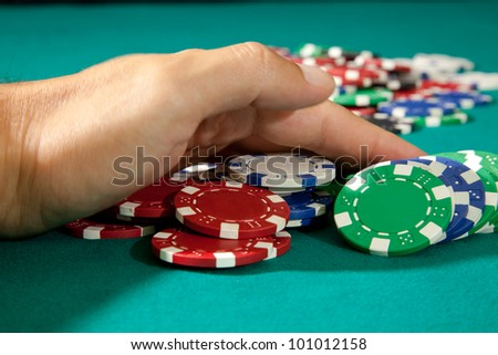 placing a bet in the game 2 - stock photo