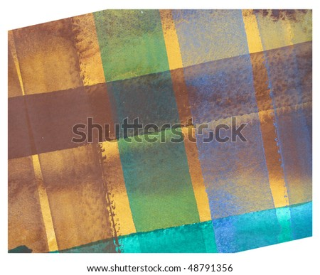 plaid abstract watercolor background design - stock photo